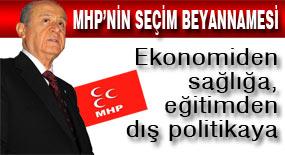 İşte MHP'nin seçim beyannamesi