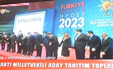 Erdoğan, Urfa adaylarını tanıttı