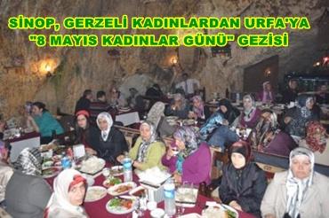 Sinoplu kadınlardan Urfa'ya anlamlı gezi