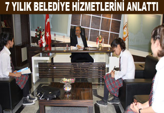 Öğrenciler Fakıbaba ile röportaj yaptı