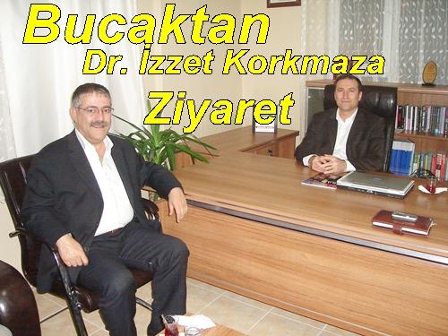 Bucak'tan Dr. İzzet Korkmaz'a ziyaret