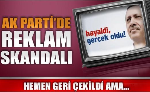 AK Parti'de reklam skandalı
