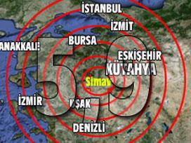 Kütahya'da 5.9 büyüklüğünde deprem; ölü ve yaralı var
