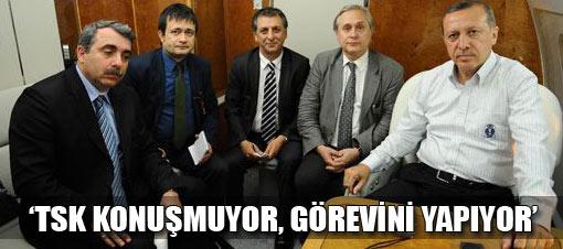 Erdoğan: Asker konuşmuyor, görevini yapıyor