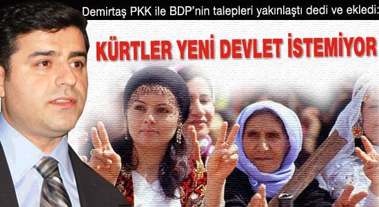 Demirtaş: Kürtler yeni devlet istemiyor