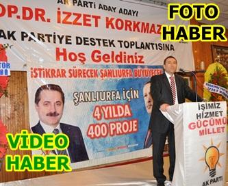 Başhekim Korkmaz'dan AK Partiye destek