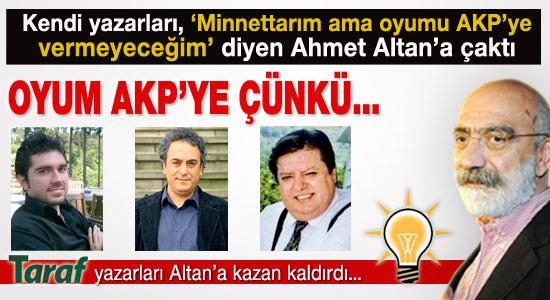Kendi köşe yazarları Ahmet Altan'a çaktı...