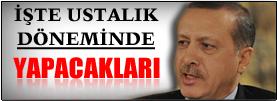 Erdoğan ustalık döneminde bunları yapacak!