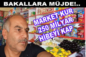 Market kuran bakallara 250 milyar hibe!..