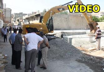 Kaçak yapı yıkımında kargaşa