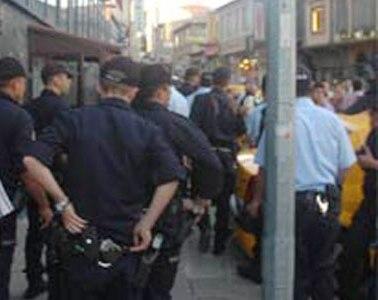 Haşimiyede Polis-Esnaf gerginliği