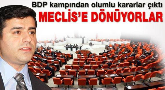 BDP 1 Ekim'de Meclis'e dönüyor