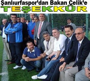 Şanlıurfaspor'dan Bakan Çelik'e Teşekkür