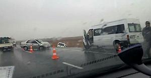 Urfa'da Yağmur Etkili olunca kaza kaçınılmaz oldu