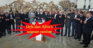 Şanlıurfa'dan Afrin'e 5 tır gıda yardımı gönderildi