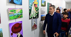 Zeytin dalı yağlı boya tablosu büyük ilgi gördü