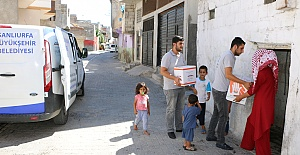 Şanlıurfa Büyükşehir Belediyesi İhtiyaç Sahiplerini Unutmadı