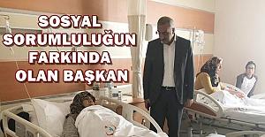 Başkan Bayık Hastaları ziyaret etti
