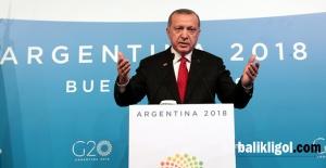 Erdoğan'dan G20 zirvesinde Fırat'ın doğusu mesajı