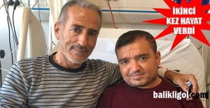 Ahmet Polat, oğluna ikinci kez hayat verdi