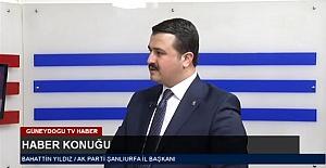 Ak Parti İl Başkanı Bahattin Yıldız...
