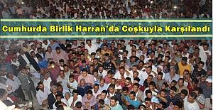 Cumhur ittifakın adayı Mahmut Özyavuz Harran'da Miting Düzenledi