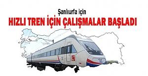 Urfa#039;ya Hızlı Tren Gelmesi İçin...
