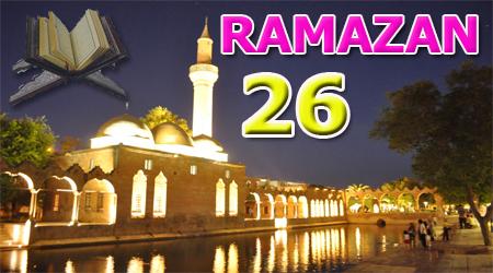 Ramazan sayfası, Kur'anı Kerim Cüz 26