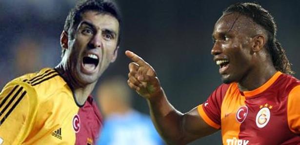 İki efsane futbolcu Didier Drogba ve Hakan Şükür buluştu