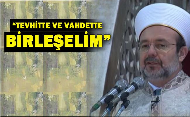 Sultanahmette Cuma hutbesi verdi