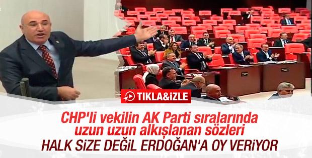 Urfalı vekil Tanal'ın AK Partili vekillerden alkış alan konuşması