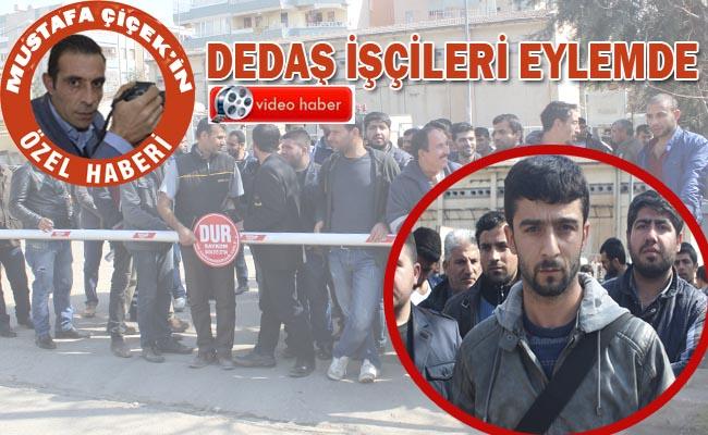 DEDAŞ İşçileri Urfa'da eylem yaptı