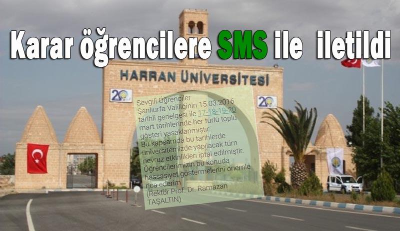 Valilikten Harran Üniversitesinde karar aldı
