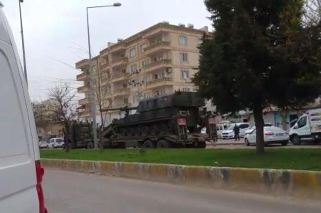 Mardin'in Nusaybin ilçesine askeri sevkiyat yapıldı