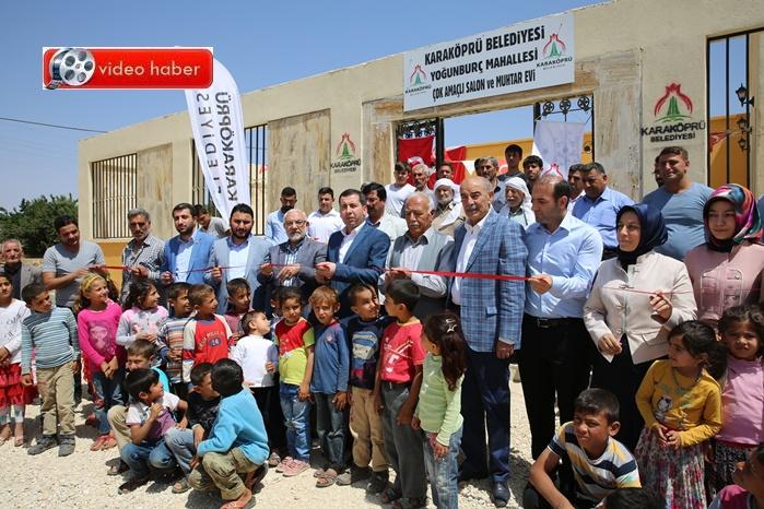 Yoğunburç köyünde çok amaçlı salon açıldı