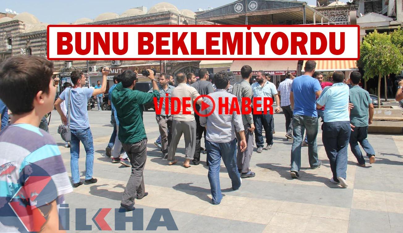 Diyarbakır'da PKK'lı camide halkı provoke edince bakın ne oldu?