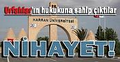 Nihatey Şanlıurfa İçin Hukuk Fakültesi Onayı Çıktı
