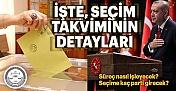 Türkiye Seçime Gidiyor! Peki, Seçim takvimi nasıl işleyecek?
