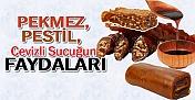 Kış Aylarının Vazgeçilmez Yiyecekleri Pekmez, Pestil ve Sucuğun Faydaları...