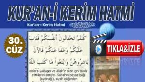 Kur'ân-ı Kerim Hatmi Arapça 30.Cüz 2018