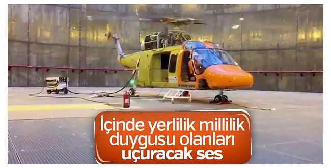 Türkiye'nin milli T625 Genel Maksat Helikopteri'nin motoru çalıştırıldı