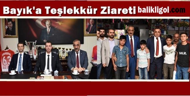Vekillerden Başkan Bayık'a Teşekkür Ziyareti
