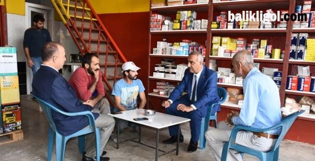 Başkan Bayık Sanayi Sitesi Esnafını ziyaret etti