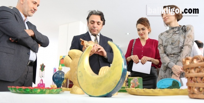 Urfa'da Psikiyatri hastalarından el sanatları sergisi