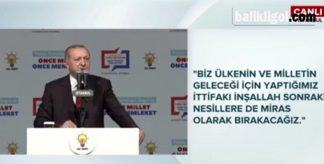 Erdoğan İstanbulda adaylarını açıklıyor