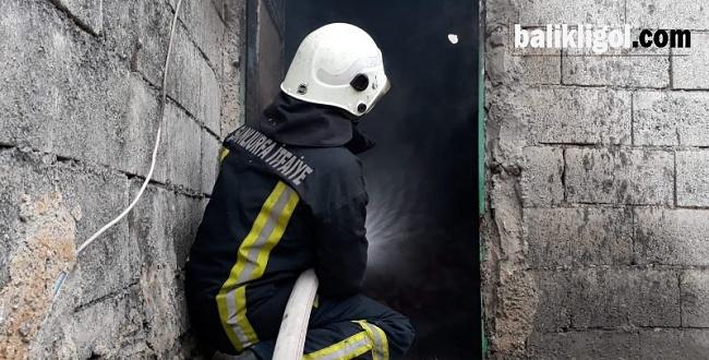 Eyyübiye'de yangın, Odunlar kül oldu