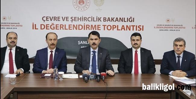 Bakan Kurum, Şanlıurfa İçin Projelerini Açıkladı