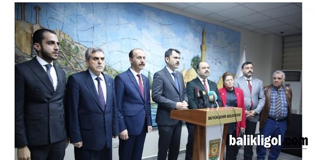 Çevre ve Şehircilik Bakanı Murat Kurum, Büyükşehir Belediyesini ziyaret etti