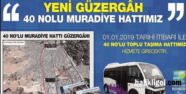 Muradiye Mahallesine 40 nolu toplu taşıma hattı açıldı