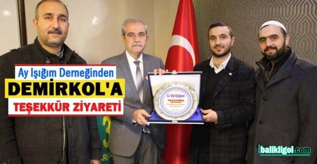 Başkan Demirkol'a Yetimler yaptığı katkıdan dolayı plaket verildi